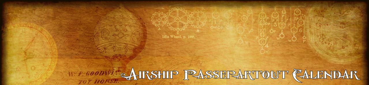Airship Passepartout Calendar